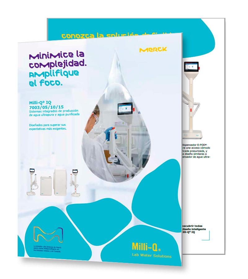 Milli-Q® IQ 7003/05/10/15 Sistemas integrados de producción de agua ultrapura y agua purificada